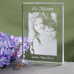 Engraved Photo Keepsake Block