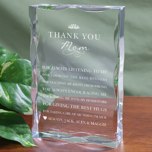 Personalized Thank You Mom Keepsake