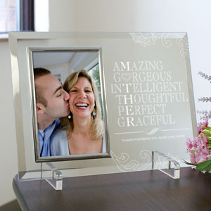 Engraved Mother Glass Picture Frame