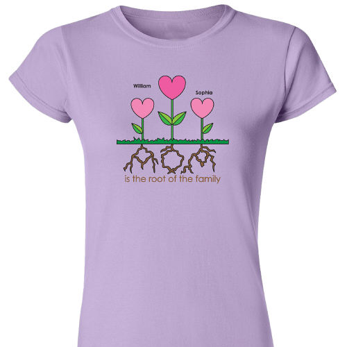 Personalized Mom Womens T-Shirt