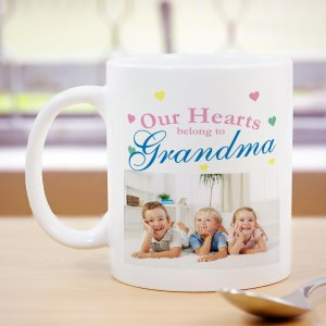 Our Hearts Personalized Photo Coffee Mug