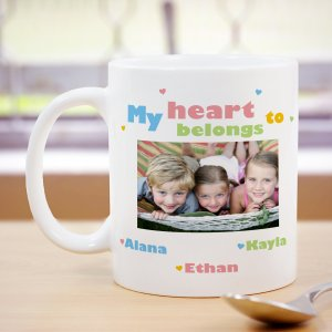 My Heart Personalized Photo Coffee Mug