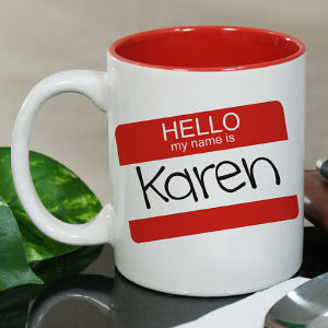 Personalized Hello My Name Is Mug