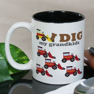 Personalized I Dig My Kids Mug