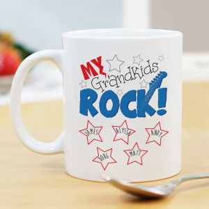 Personalized My Kids Rock Mug | Personalized Grandpa Gifts