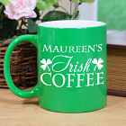 Engraved My Irish Coffee Two-Tone Mug