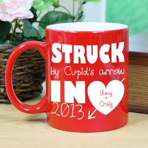 Engraved Struck By Cupids Arrow Two-Tone Mug