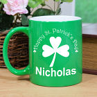 Engraved Happy St. Patrick's Day Two-Tone Mug