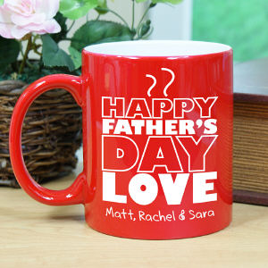 Engraved Father's Day Two-Tone Mug