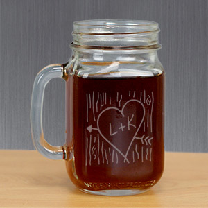 Couples Mason Jar