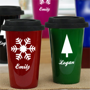 Personalized Holiday Travel Mug