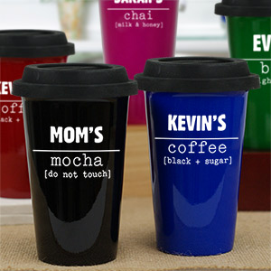 Personalized My Coffee Latte Mug | Mother's Day Coffee Mug