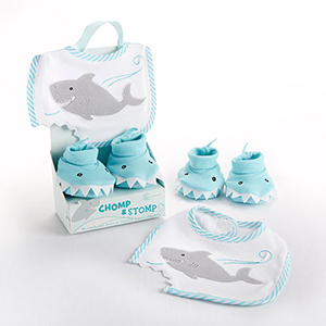 Chomp and Stomp Bib and Booties Set NP01461