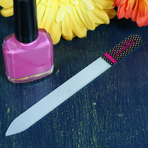 Personalized Polka Dot Ladies Nail File
