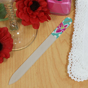 Personalized Flower Nail File