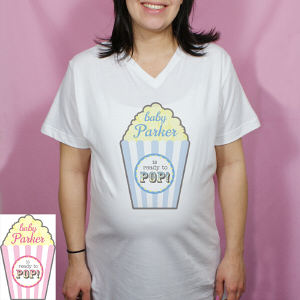 Personalized Ready to Pop Maternity Shirt