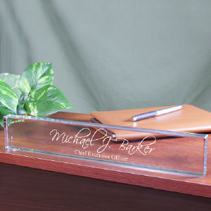 Engraved Desk Name Plate