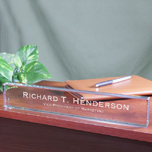 Engraved Executive Name Plate | Personalized Office Gifts For Him