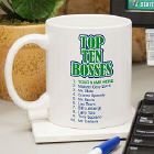 Personalized Top Ten Bosses Ceramic Coffee Mug