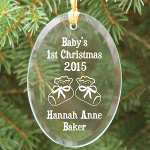 Baby's 1st Christmas Glass Ornament