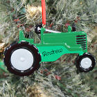 Green Tractor Personalized Ornament