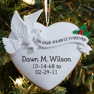 Personalized In Our Hearts Ornament