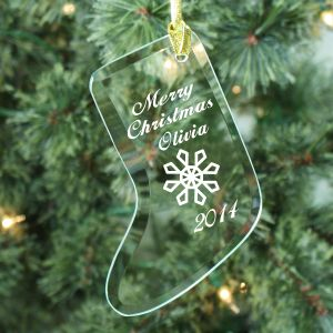 Merry Christmas Stocking Ornament