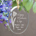 Mother's Day Personalized Oval Glass Ornament 828134