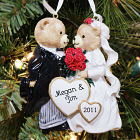 Bride & Groom Personalized Christmas Ornament