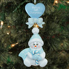 First Christmas Blue Snowbaby Ornament