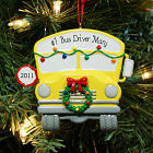 Personalized School Bus Ornament