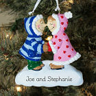Eskimo Kisses Engraved Christmas Ornament