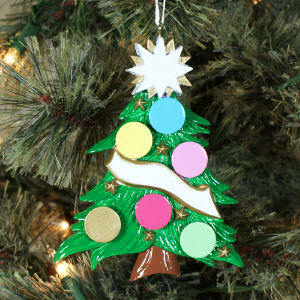 Non Personalized Christmas Tree Ornament