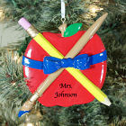 Teachers Apple Christmas Ornament