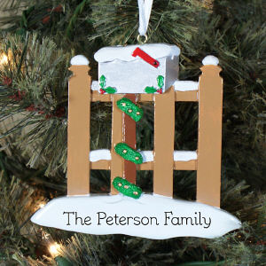 Mailbox Personalized Ornament | Personalized Christmas Ornament