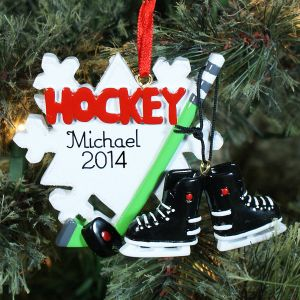 Hockey Player Personalized Ornament