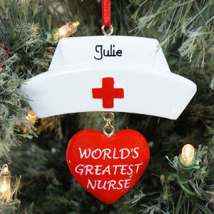 Personalized World's Greatest Nurse Ornament