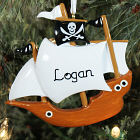 Personalized Pirate Ship Ornament