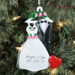 Personalized Bride and Groom Christmas Ornament 843703
