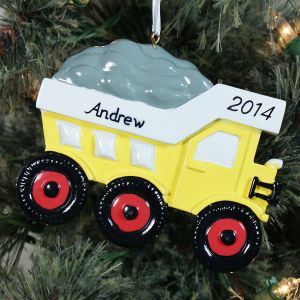 Personalized Dump Truck Ornament