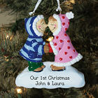 Engraved 1st Christmas Eskimo Ornament