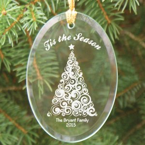 Engraved Christmas Tree Ornament
