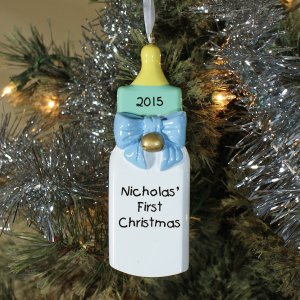 Personalized Baby's First Christmas Ornament for a Baby Boy