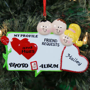Personalized Networking Christmas Ornament