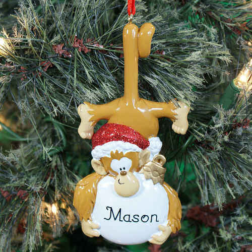 Personalized Monkey Business Christmas Ornament | Personalized Christmas Ornaments For Kids