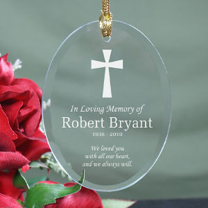 In Loving Memory Glass Ornament