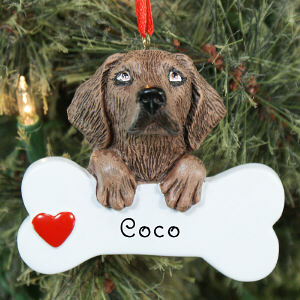 Engraved Chocolate Lab Ornament | Personalized Pet Ornaments