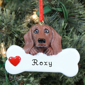 Engraved Dachshund Ornament | Personalized Pet Ornament