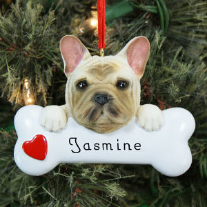 Engraved French Bulldog Ornament