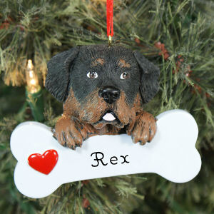 Engraved Rottweiler Ornament